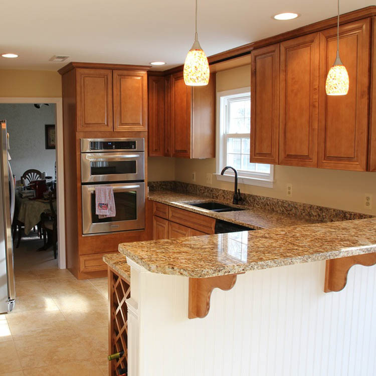 interior of kitchen with granite countertops